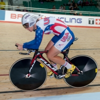 Jade Wilcoxson finished 8th in the individual pursuit