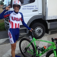 Justin Oien before his time trial at Keizer der Juniores