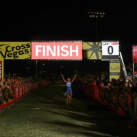 Katerina Nash celebrates winning the women