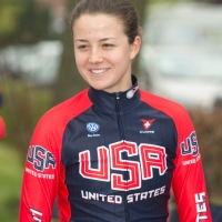 Ruth Winder before the team time trial