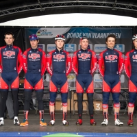 Team USA presentation before the 2014 U23 Tour of Flanders