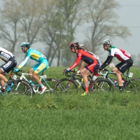 Tyler Williams races in the field at the 2014 U23 Tour of Flanders