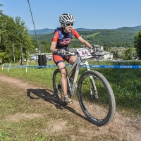 Elizabeth White was 27th at the 2014 UCI MTB World Cup in Windham, N.Y.