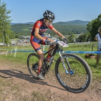 Emily Shields was 18th at the 2014 UCI MTB World Cup in Windham, N.Y.