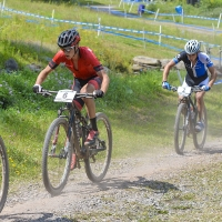 Howard Grotts pedals his way to a fourth-place finish in the U23 race at the 2014 UCI MTB World Cup in Windham, N.Y.