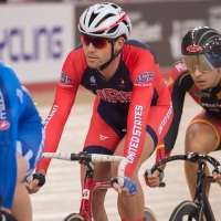 Bobby Lea won the omnium scratch race and earned second in the individual pursuit on Saturday.