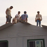 Roofing was also among the tasks