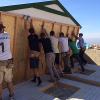 U23 riders helped build a house in Mexico as a team building project