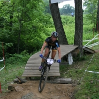 Erin Huck maneuvers through a section of the WORS Cup course en route to a 2nd place finish.