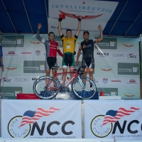 Hogan Sills, Peter Olejniczak and Chad Hartley (l to r) made up the podium at the July 19 criterium.