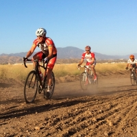 Matthias Jezek took this photo of the new half-mile dirt section in the Thursday Great Park Criterium Series in Irvine, Calif.