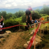 Riders catch air at the Specialized Catamount Classic.