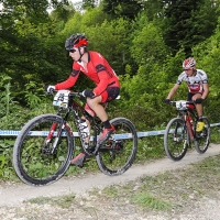 Howard Grotts finished third at the 2014 UCI Mountain Bike World Cup #4.