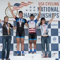 Division I women omnium podium