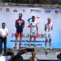 Joey Rosskopf on the podium at the 2014 Pan Am Road Championships