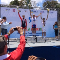 Megan Guarnier won the silver medal in the 2014 Pan Am road race
