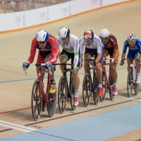 Bobby Lea in the omnium scratch race