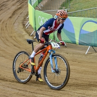 Howard Grotts fought hard in the XC MTB race.
