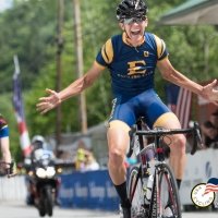 Nolan Tankersley posts up for the win in the 2016 DII Collegiate National Championship Road Race