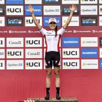 Kate Courtney retained the World Cup leader jersey in Mont-Saint-Anne