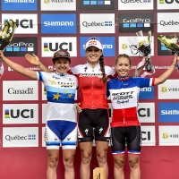 Kate Courtney won her third World Cup of 2017 in Mont-Saint-Anne