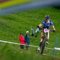 Erin Huck was 24th in the womens elite race in Lenzerheide