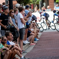 Big crowds watched the race in Grand Rapids