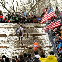 Thousands of spectators cheered throughout the day at the 2013 UCI Cyclo-cross World Championships