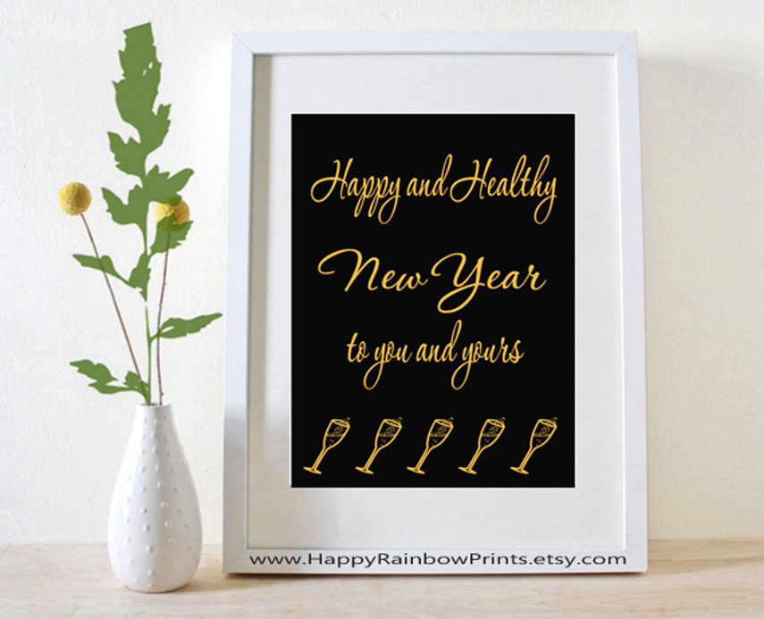 Happy New Year printable card