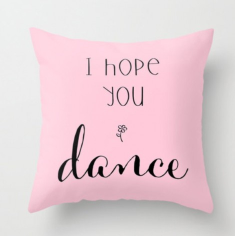 dance pillow gift idea