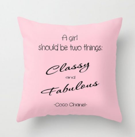 typography pillow