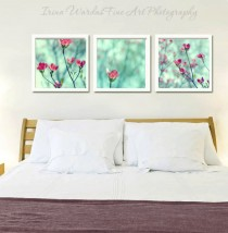 set of 3 wall flower decor prints