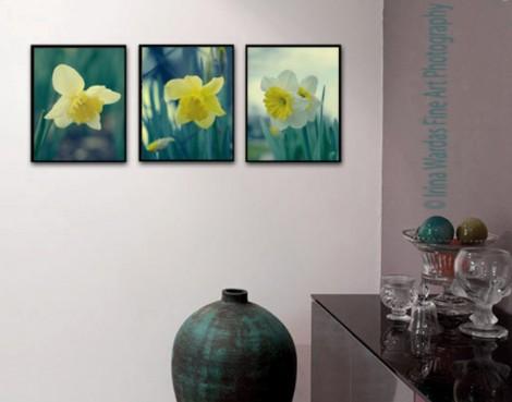 Daffodil Wall art set