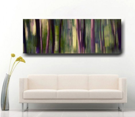 panoramic Wall Canvas Tree Abstract