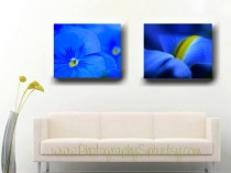 vibrant blue wall art decor