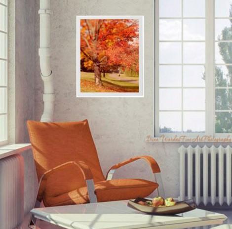 fall leaves interior decor