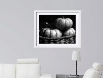 Pumpkin wall art