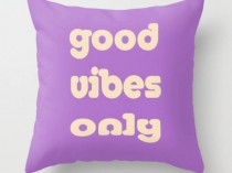 words on pillow