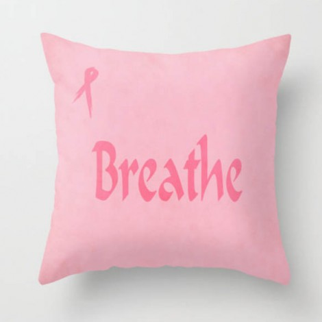 pink pillow for cancer patients