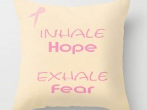 pink ribbon pillow quotes