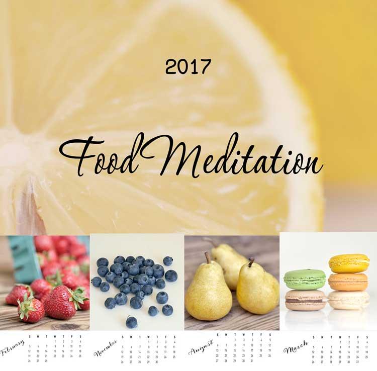 food photo calendar 2017