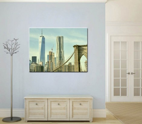 Manhattan skyline wall canvas