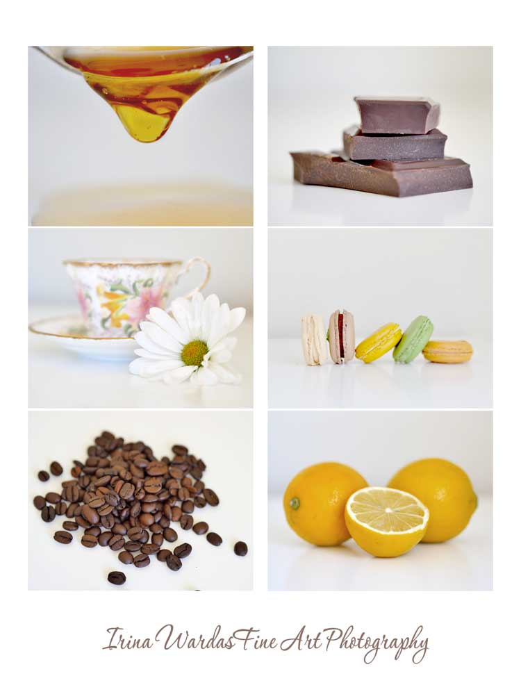 food on white print set