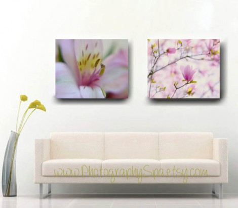 flower photo on canvas
