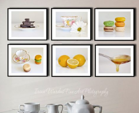 set of 6 kitchen wall art