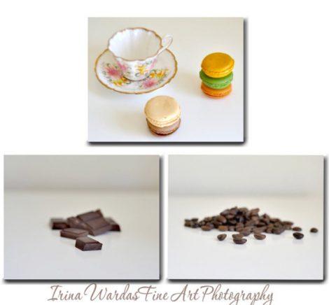 set of 3 food wall art