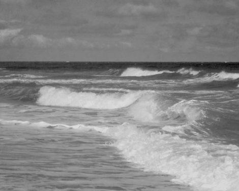 Ocean photography black and white beach print, ocean bathroom decor, bath wall art grey seascape photography, dark gray nautical decor