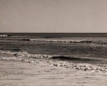 Sepia beach photography, ocean wall art, tan brown nautical decor, seascape landscape, ocean picture 12x18, sea photography, sepia print