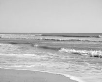 Black and white beach photography, light grey ocean wall decor large seascape photo, modern gallery wall art, sea waves landscape, seashore