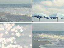aqua blue beach art palette